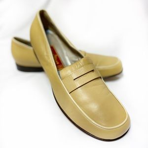 Yellow Cole Haan Loafers